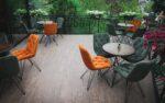 Metalni stolici za kafe bar