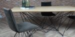 dining chair with black metal legs
