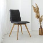 trpezariska stolica vo ekokoza i masivno drvo dab