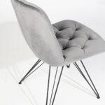 trpezariska stolica so siv plis i crni nogarki