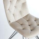 trpezariska stolica so krem plis i crni nogarki