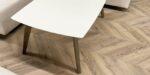 Scandinavian style oak coffee table