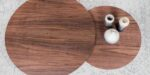 set of two coffee table walnut top