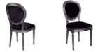 baroque dining chair in metal chrome