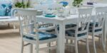 white traditional dining set