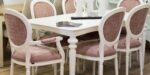 modern dining table with modern chairs