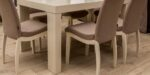 dining set in beige colour