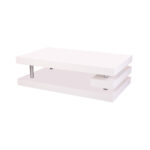 3 level coffee table in white MDF