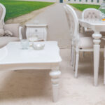 white baroque coffee table
