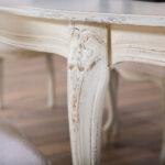 trpezariska masa rusticen stil detail
